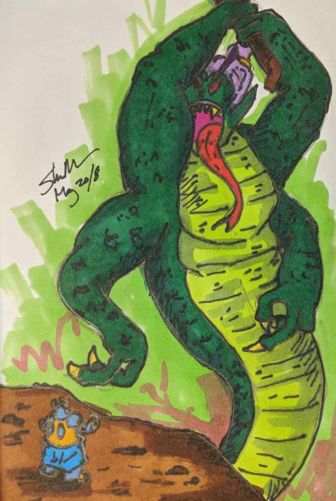 spacelord giant snake goblin doodle 2018