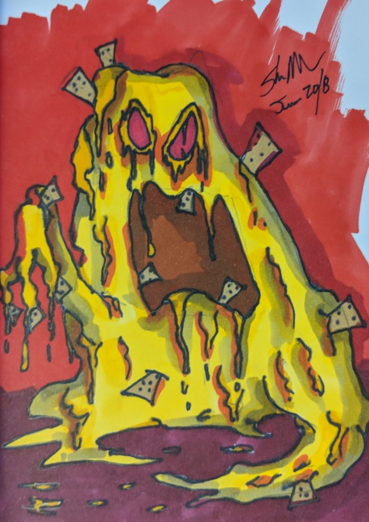 nacho cheese monster doodle 2018
