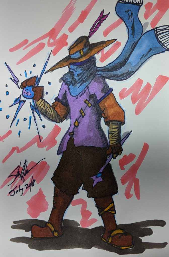 wizard with no name doodle 2018