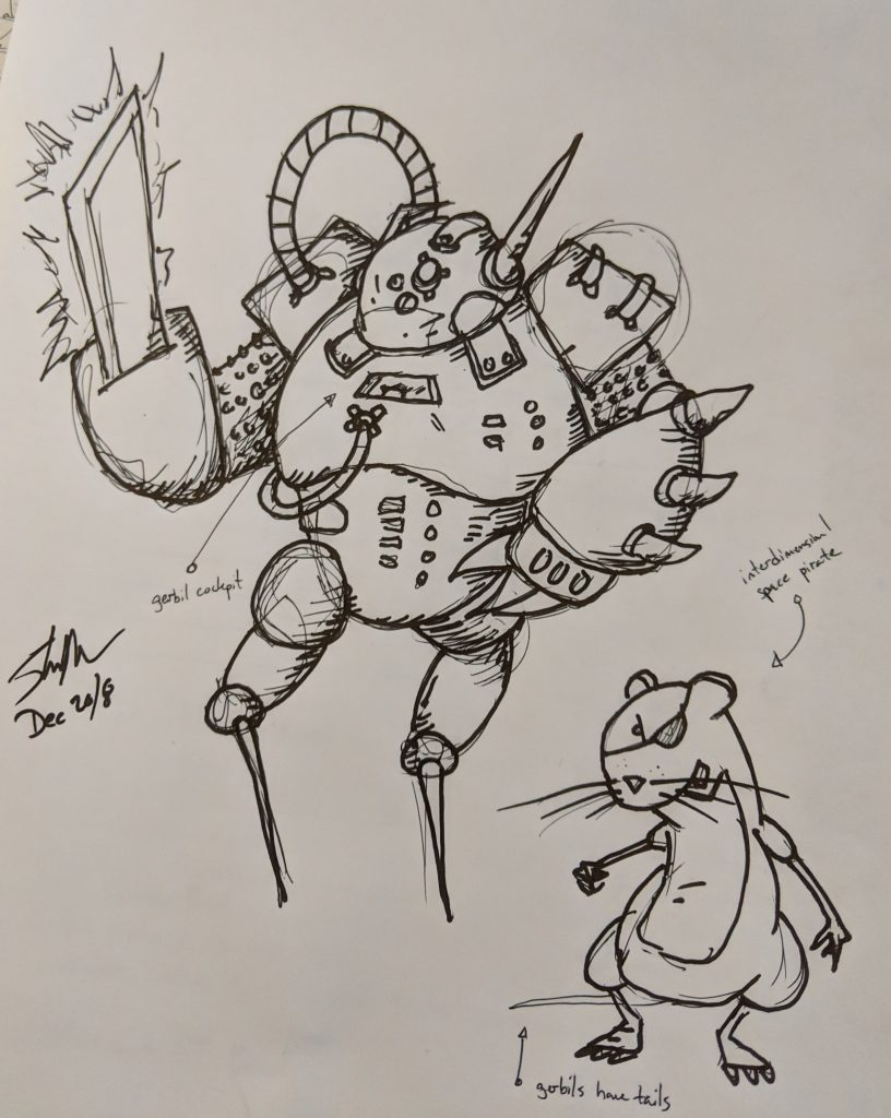 transdimensional space pirate doodle 2018