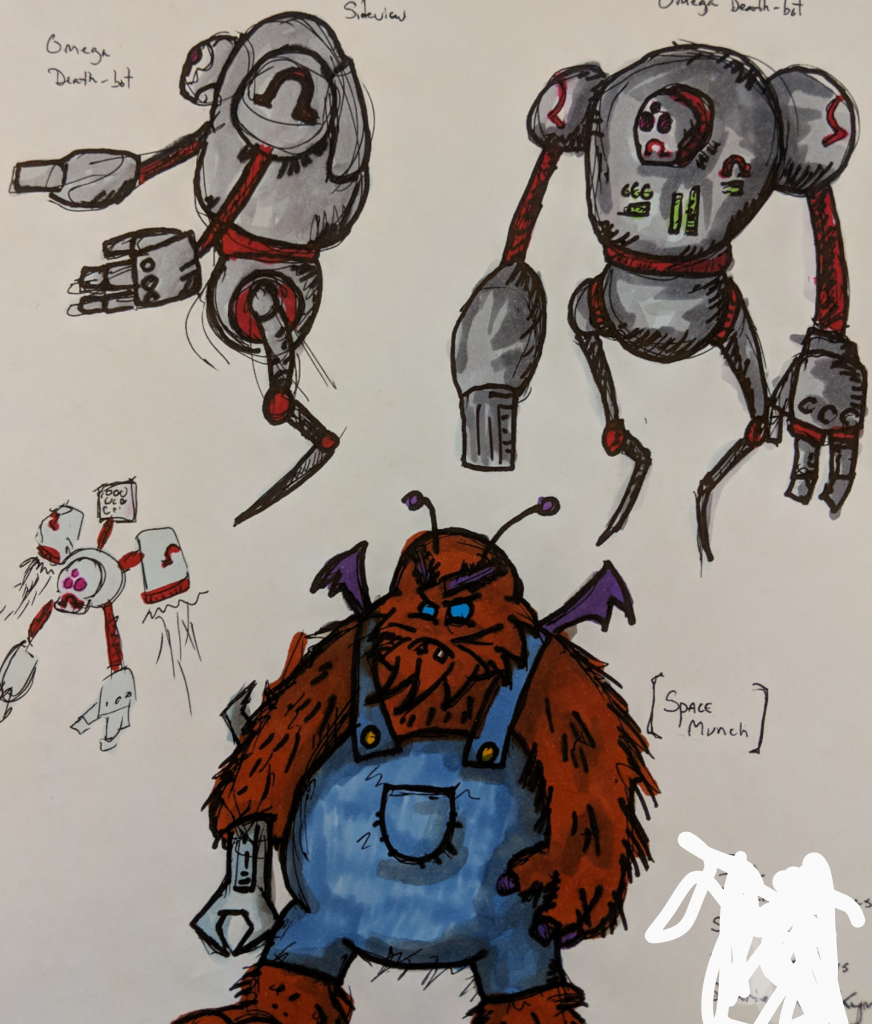omegabots and spacemunch doodle 2019