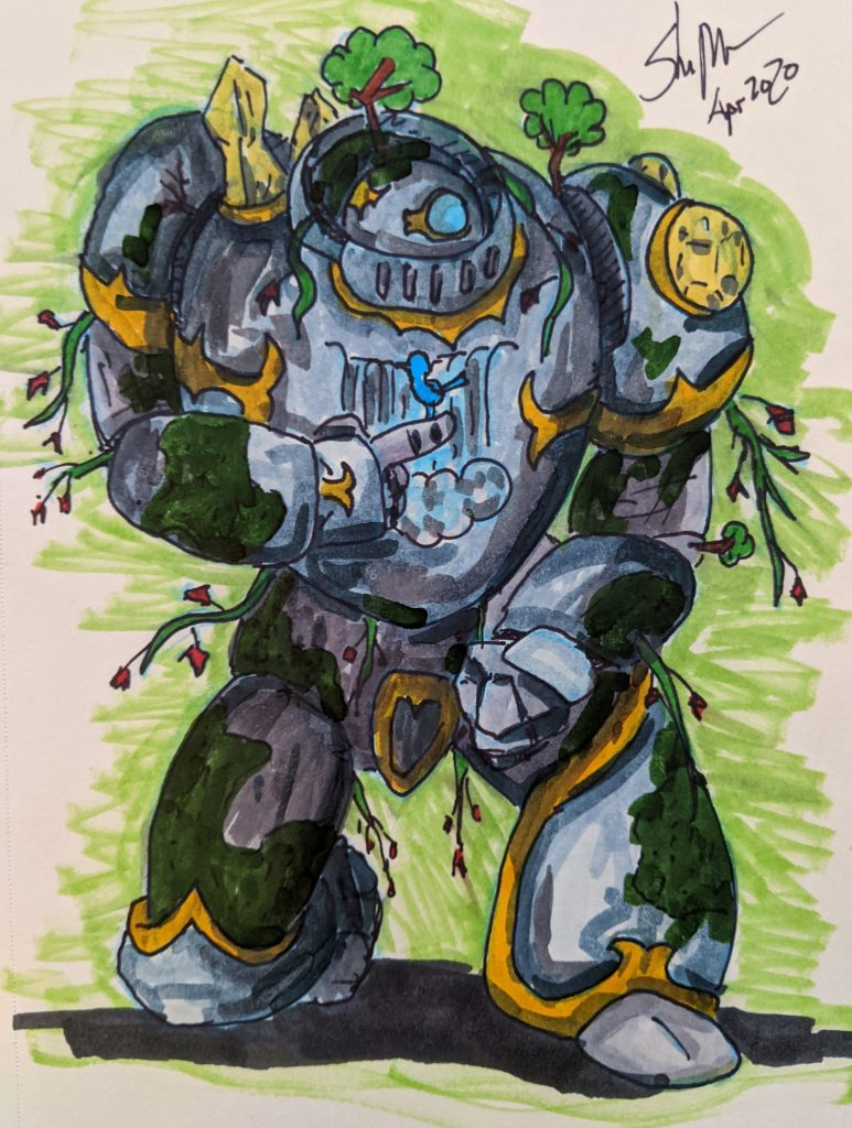 Vessel, the Warforged Cleric of Nature